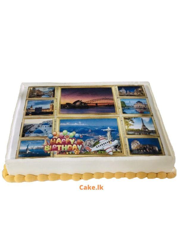 Travel Print Cake 2kg