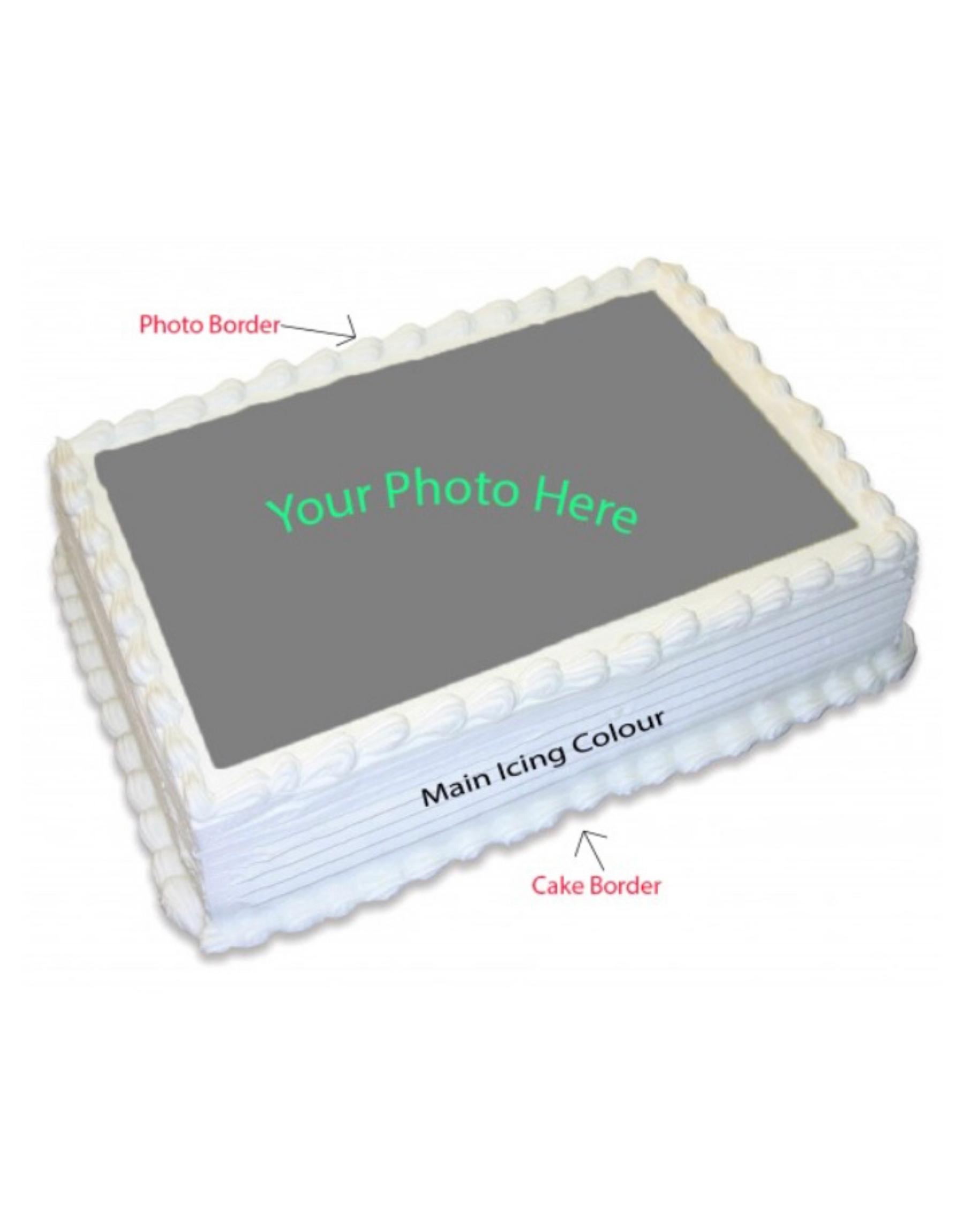 Custom Edible Print Cake – Square/round 2Kg