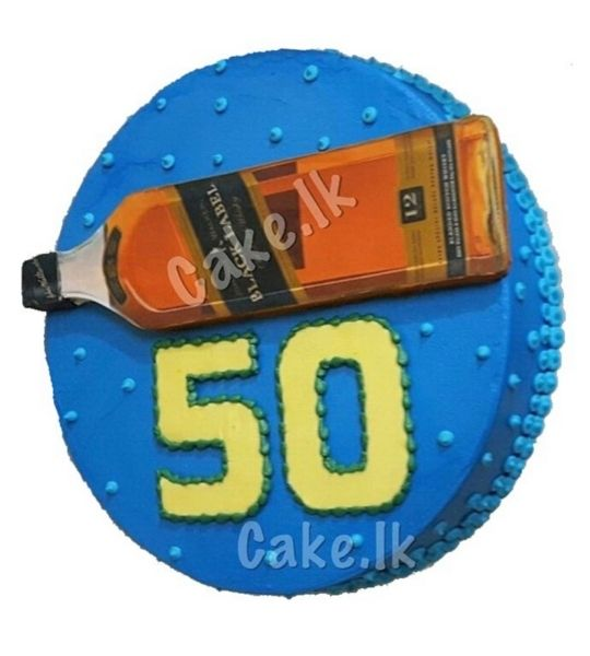 50th Birthday Cake 2Kg