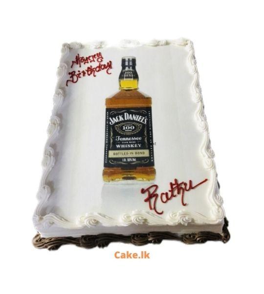Whiskey Bottle Cake 2Kg