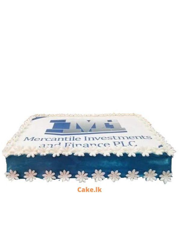Company Logo Print Cake 2kg