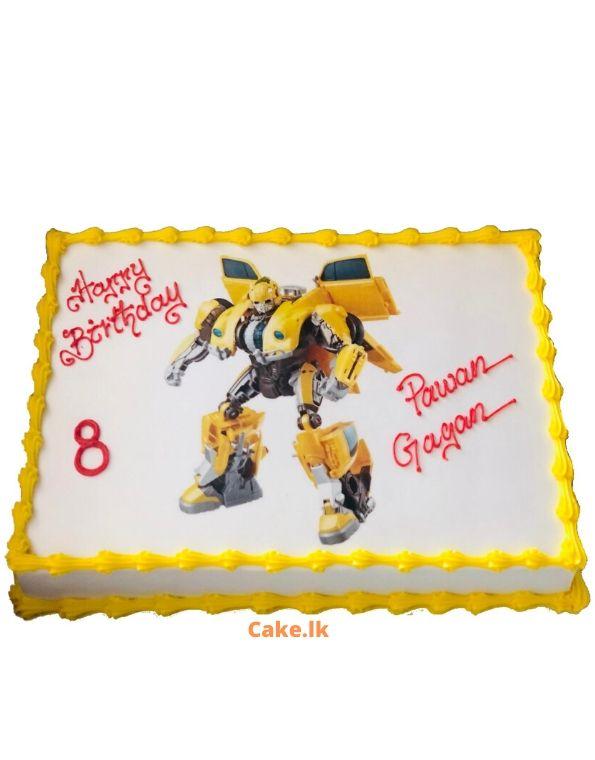 Cartoon Lovers Print Cake 2kg