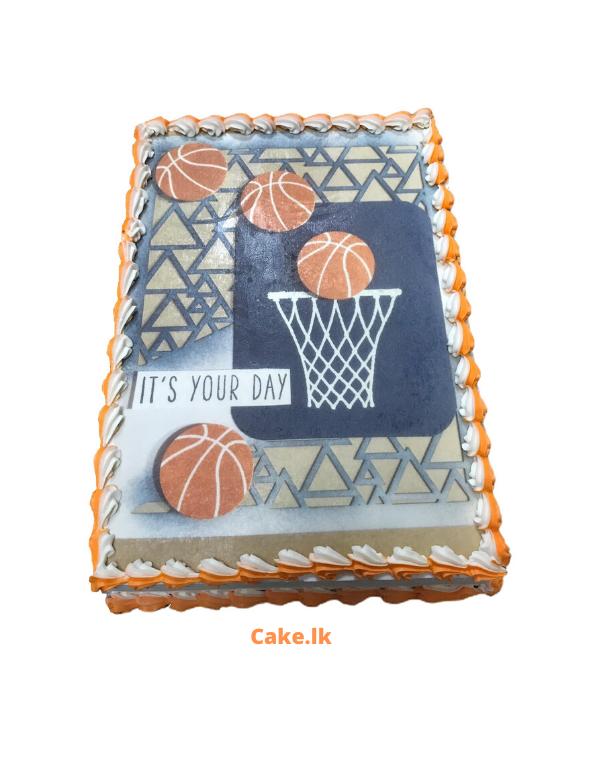 Basketball Print Cake 2kg