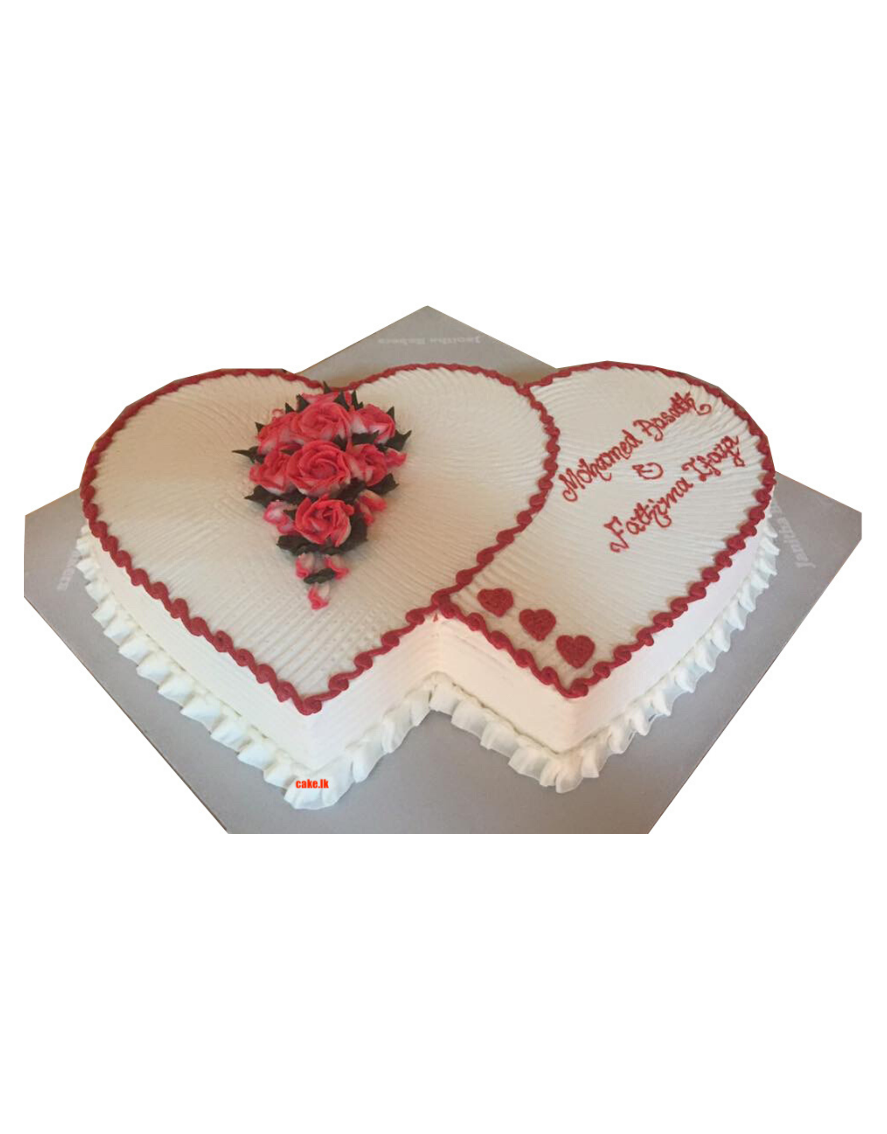 Double Heart with Red Flowers 2.5Kg