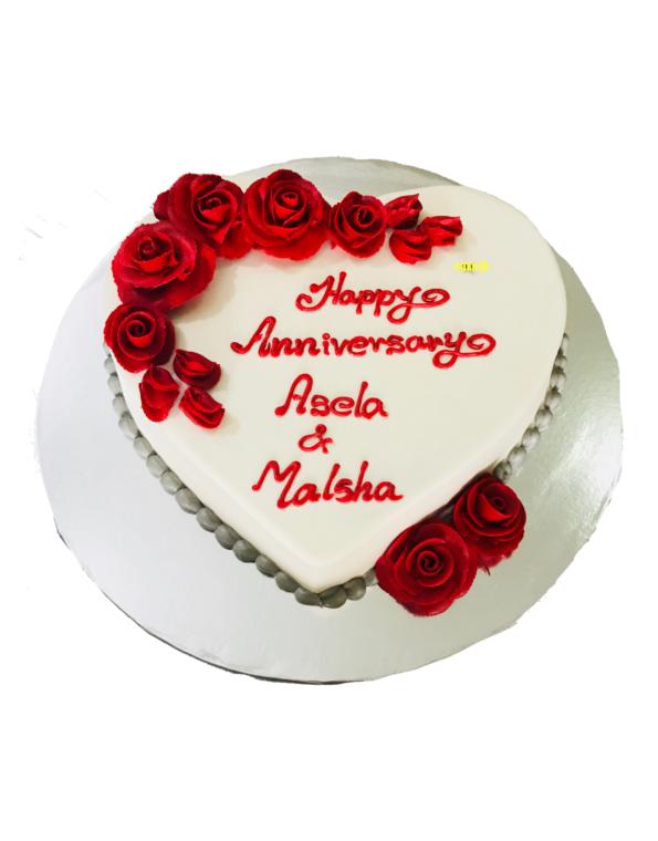 Red Roses Anniversary Cake 1.5Kg